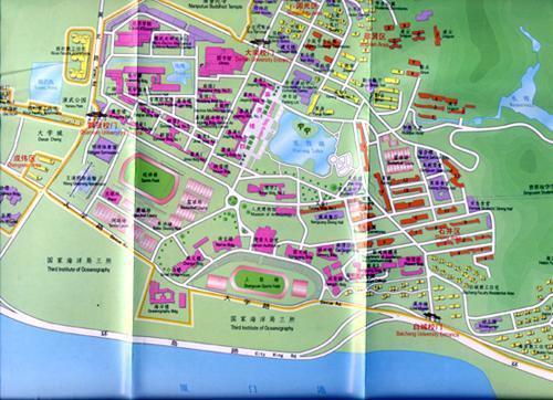 厦大区域手绘地图